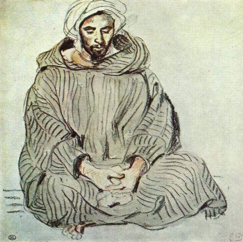 Etude arabe assis