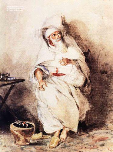Portrait d'Amin Bias, ministre du Sultan (aquarelle). Musée du Louvre, album Mornay.