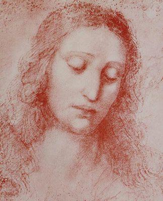 Sanguine_Portrait, sanguine, Leonard de Vinci