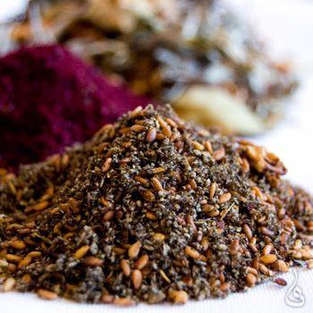 Epices_Zaatar, mélange traditionnel d'épices cultivées à Jénine, Palestine.