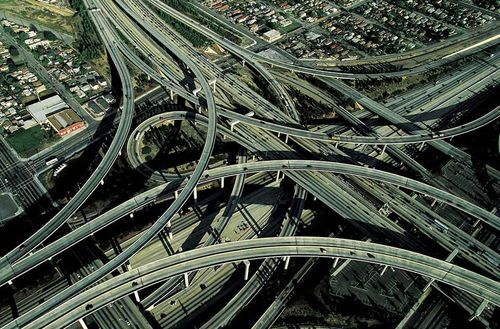 Noeud d'autoroute à Los Angeles, Etats-Unis