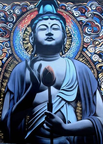 BUDDHA by Mac et Retna  mural  Los Angeles CA