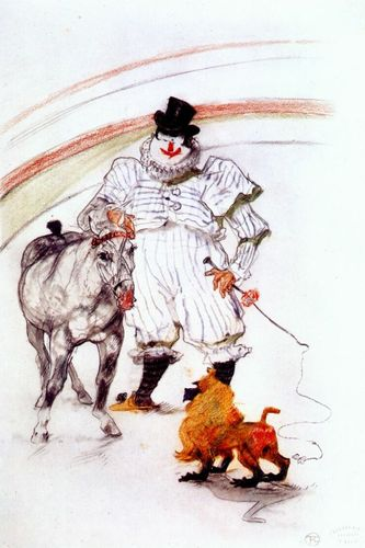 Lautrec_at_the_circus,_horse_and_monkey_dressage_1899