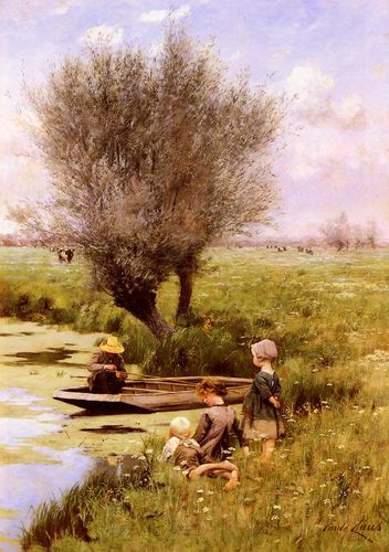 Emile_Claus_-_Afternoon_Along_The_River