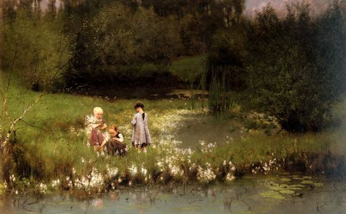 Emile_Claus_-_Picking_Blossoms