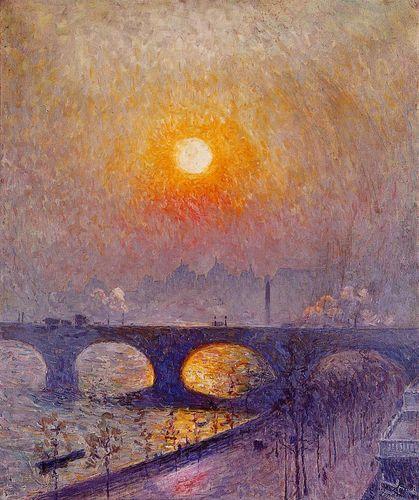 Emile_Claus_-_Sunset_over_Waterloo_Bridge