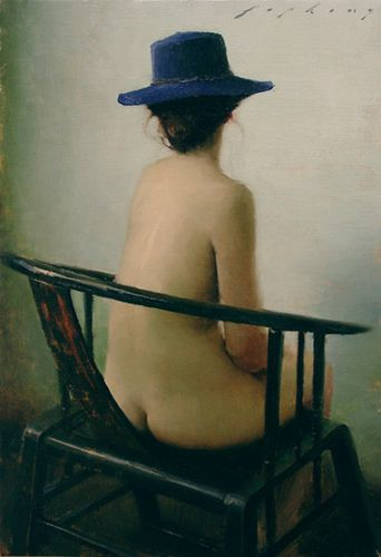 Blue Hat_Jeremy Lipking